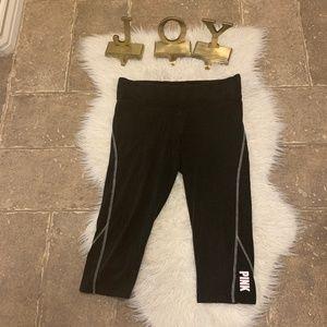 Victoria's Secret Pink Black Capri Yoga Pants